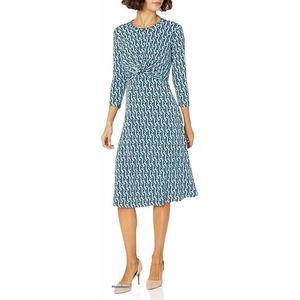 Donna Morgan Knot Front Knit Jersey Midi Dress 8